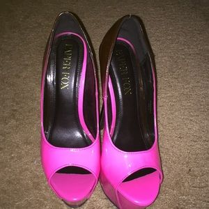 Pink heels (pink faded into black)